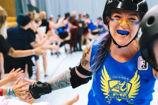 So happy, my roller derby photos at Kulturhuset